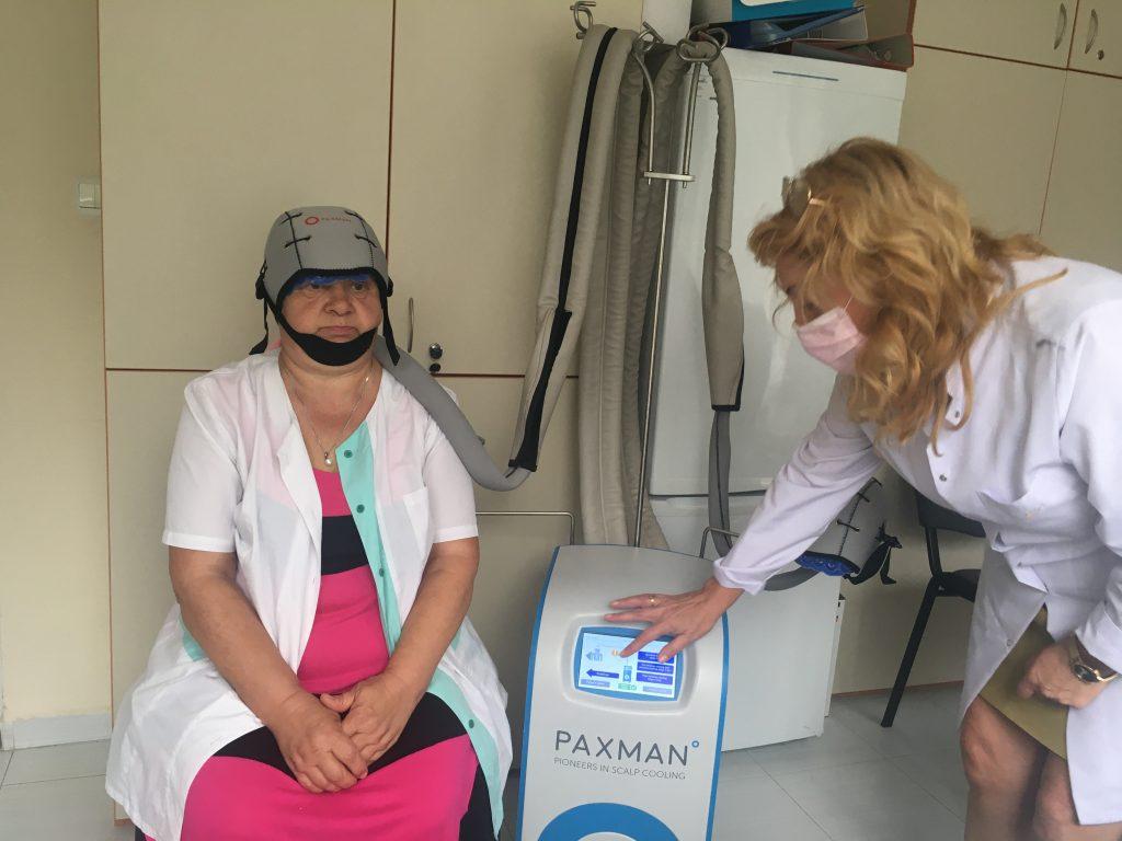 Система за предпазване от косопад при химиотерапия